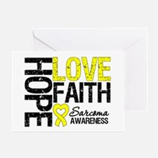 Sarcoma Hope Faith Greeting Card