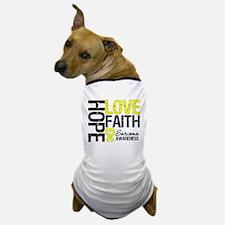 Sarcoma Hope Faith Dog T-Shirt