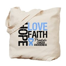 Prostate Cancer Faith Tote Bag
