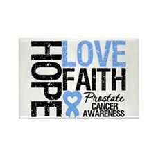 Prostate Cancer Faith Rectangle Magnet