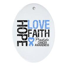 Prostate Cancer Faith Oval Ornament