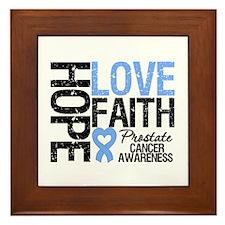 Prostate Cancer Faith Framed Tile