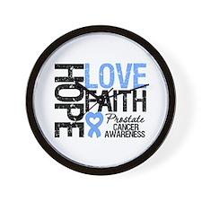 Prostate Cancer Faith Wall Clock