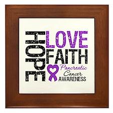 Pancreatic Cancer Faith Framed Tile