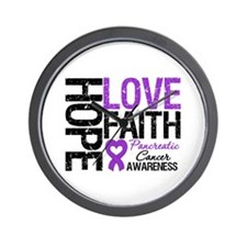 Pancreatic Cancer Faith Wall Clock