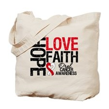 Oral Cancer Hope Faith Tote Bag