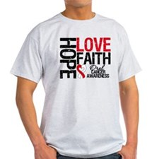 Oral Cancer Hope Faith T-Shirt