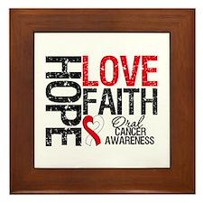 Oral Cancer Hope Faith Framed Tile