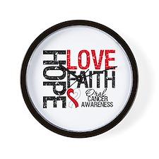 Oral Cancer Hope Faith Wall Clock