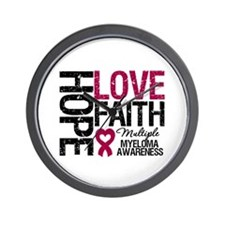 Multiple Myeloma Faith Wall Clock