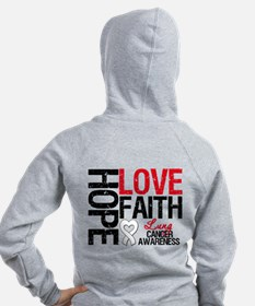 Lung Cancer Faith Zip Hoodie