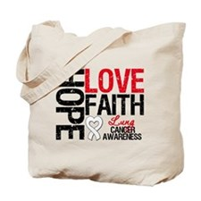 Lung Cancer Faith Tote Bag
