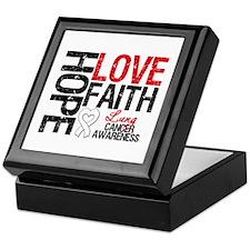 Lung Cancer Faith Keepsake Box