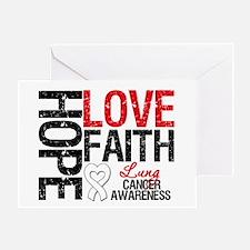 Lung Cancer Faith Greeting Card