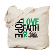 Liver Cancer Faith Tote Bag