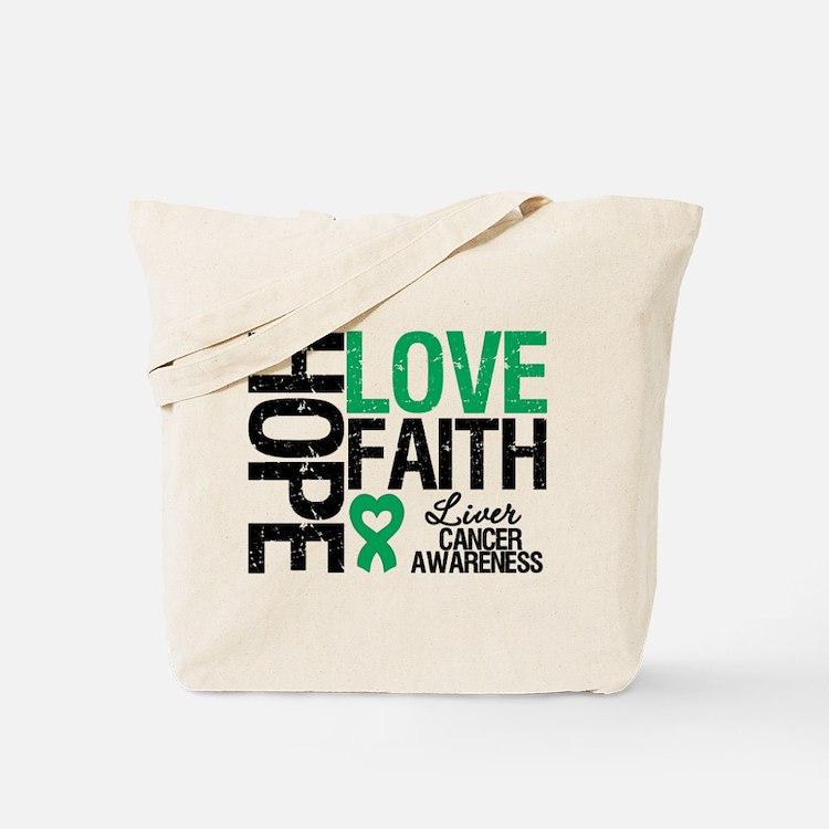 Liver Cancer Faith Tote Bag