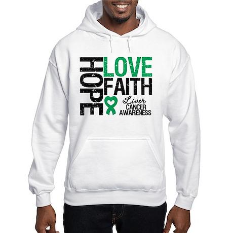 Liver Cancer Faith Hooded Sweatshirt