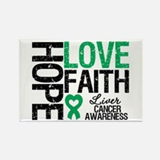 Liver Cancer Faith Rectangle Magnet