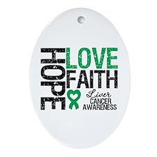 Liver Cancer Faith Oval Ornament