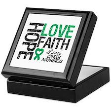 Liver Cancer Faith Keepsake Box