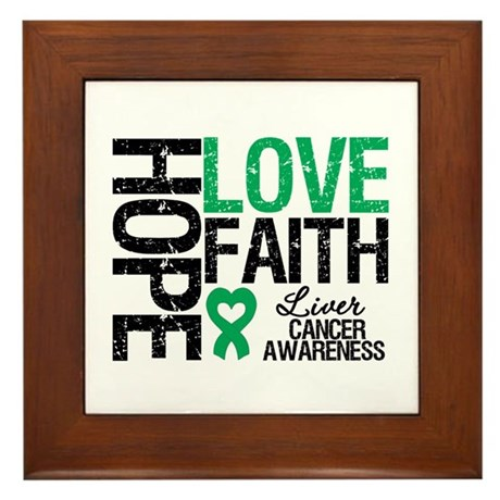 Liver Cancer Faith Framed Tile