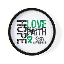 Liver Cancer Faith Wall Clock