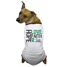 Liver Cancer Faith Dog T-Shirt