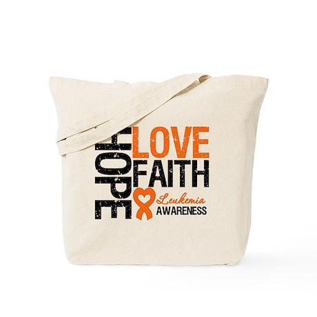 Leukemia HopeLoveFaith Tote Bag
