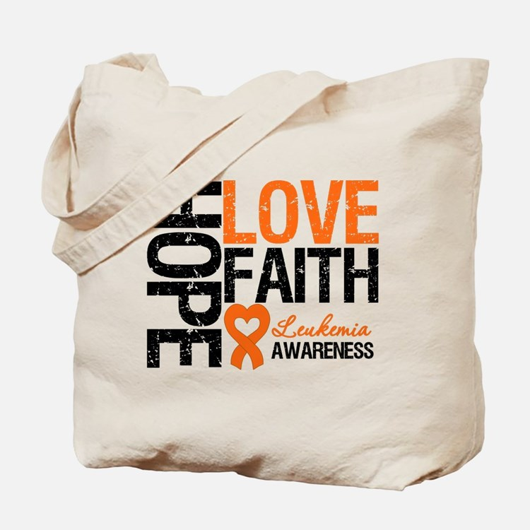 Leukemia HopeLoveFaith Tote Bag