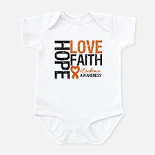 Leukemia HopeLoveFaith Infant Bodysuit