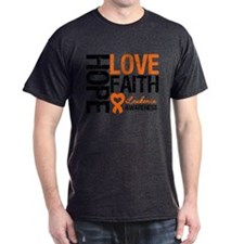 Leukemia HopeLoveFaith T-Shirt