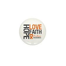 Leukemia HopeLoveFaith Mini Button (10 pack)