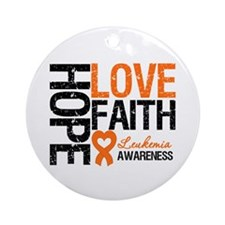 Leukemia HopeLoveFaith Ornament (Round)