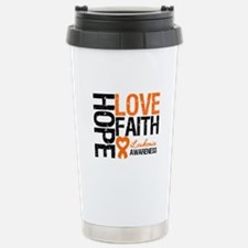 Leukemia HopeLoveFaith Travel Mug