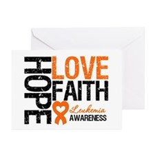 Leukemia HopeLoveFaith Greeting Cards (Pk of 10)