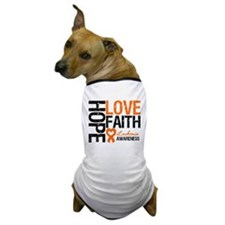 Leukemia HopeLoveFaith Dog T-Shirt