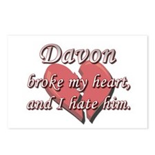 Davon broke my heart and I hate him Postcards (Pac