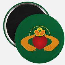 Green Claddagh Magnet