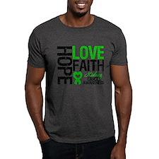 Kidney Cancer Faith T-Shirt