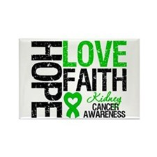 Kidney Cancer Faith Rectangle Magnet
