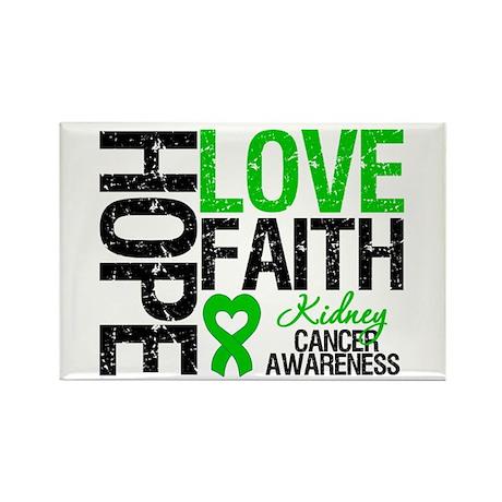 Kidney Cancer Faith Rectangle Magnet
