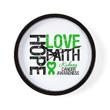 Kidney Cancer Faith Wall Clock