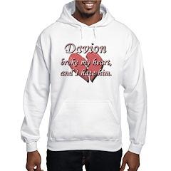 Davion broke my heart and I hate him Hoodie