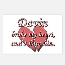 Davin broke my heart and I hate him Postcards (Pac