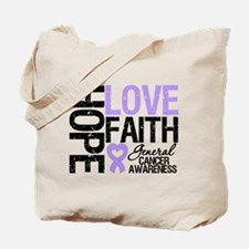 Cancer Hope Love Faith Tote Bag