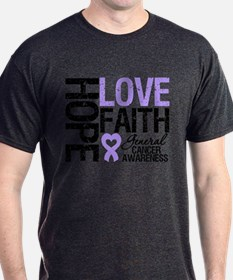 Cancer Hope Love Faith T-Shirt