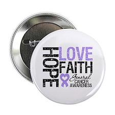 """Cancer Hope Love Faith 2.25"""" Button (10 pack)"""