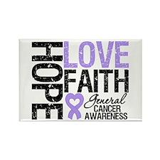 Cancer Hope Love Faith Rectangle Magnet