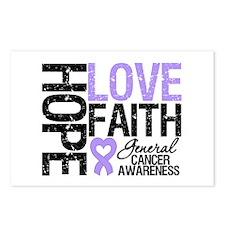 Cancer Hope Love Faith Postcards (Package of 8)