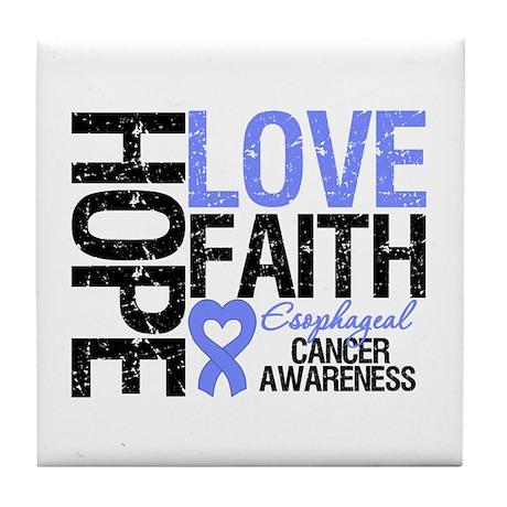 Esophageal Cancer Faith Tile Coaster